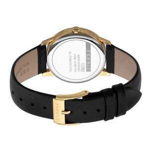 Leather Strap White Dial Analog Watch