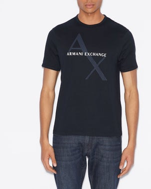 Blue Logo Print T Shirt