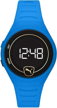 Forever Faster Lcd Blue Polyurethane Watch