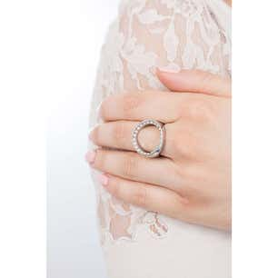 Voil Grey Stone Hole Ring