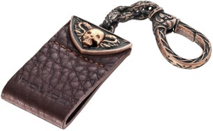 Cathedral Brown Leather Key Ring