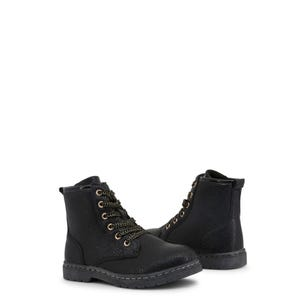 Leather High Top Lace Kids Ankle Boots