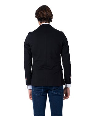 Black Long Bull Sleeve Blazer