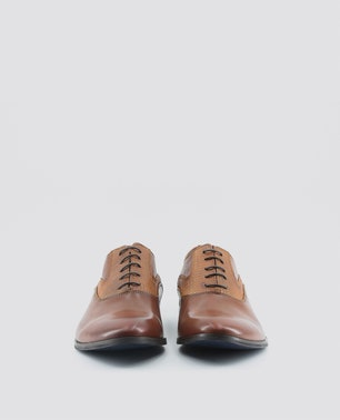 Brown Joachim Textured Insert Lace Up Shoes