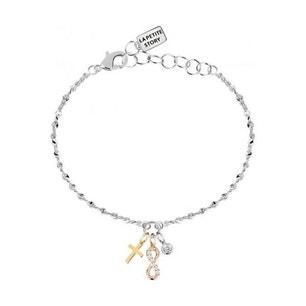 Round Silver Steel Infinity Charm Bracelet