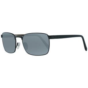 Black Steel Square Frame Sunglasses