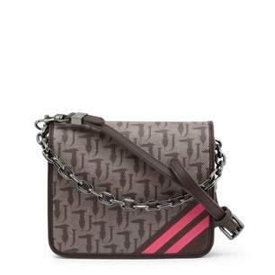 Brown Small Chain Handle Clutch Bag