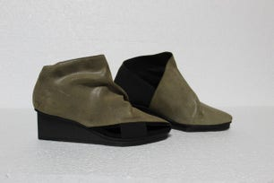 Open Side Wedge Ankle Boots