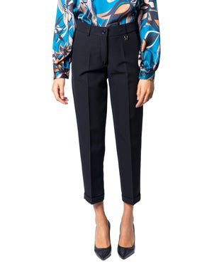 Black Button Zipper  Trousers