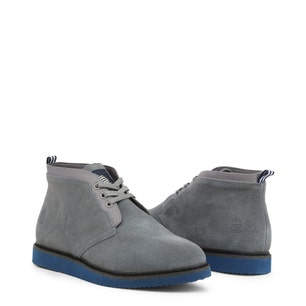 Grey Suede Lace Up Ankle Boots