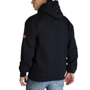 Navy Golivier Long Sleeve Hoodie Sweatshirt