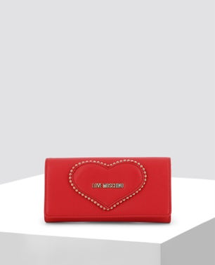 Red Studded Clutch Bag