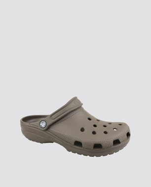 Brown Crocband Classic Clogs