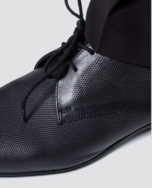 """Classic-Looking Derby Dressy Carved"""" Shoe In Printed Leather"""
