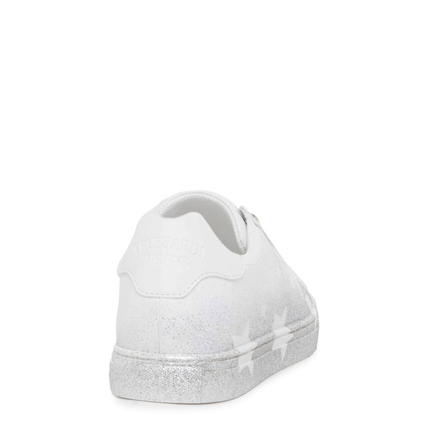 Round Toe Glitter Low Top Sneakers