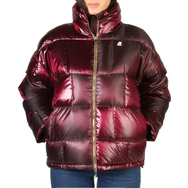 Red Quilted Padded Hoodie Jacket