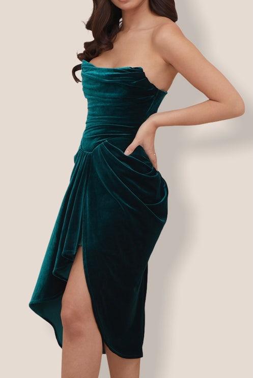 Flora Velvet Midi Dress