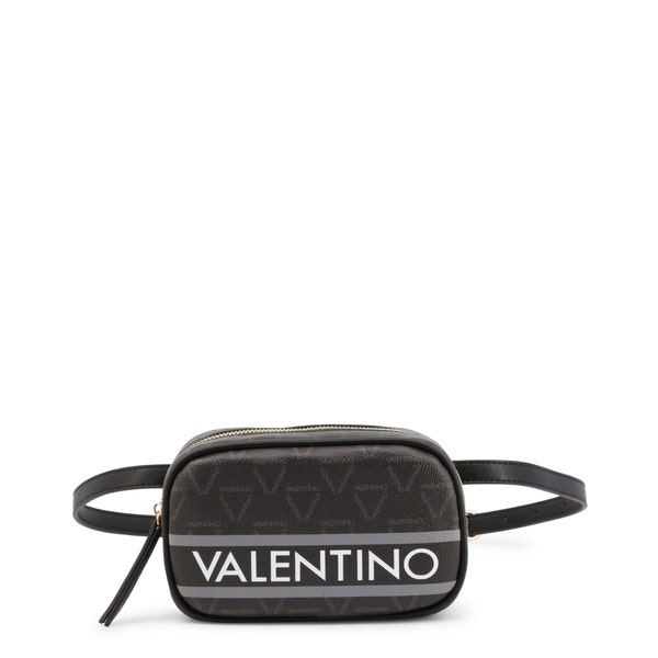 Leather Round Zip Logo Belt Bag
