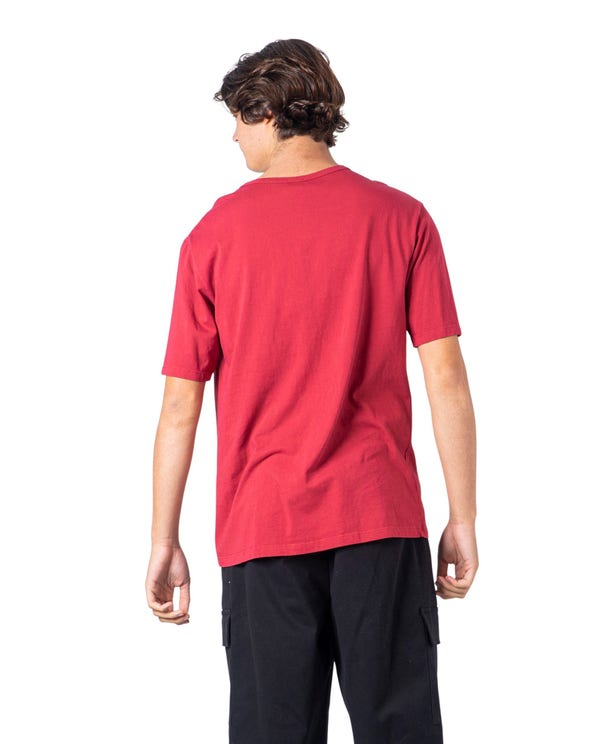 Red Plain Loose T Shirt