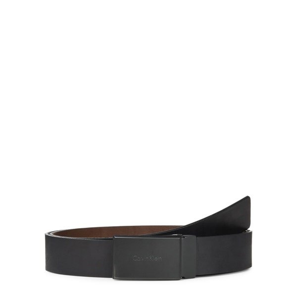 Square Buckle Leather Reversible Belt