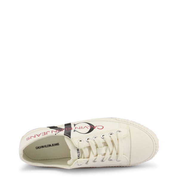 White Demianne Low Top Sneakers