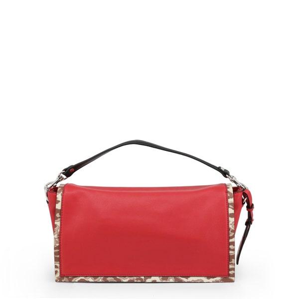 Red Small Liquiriza Single Handle Clutch Bag