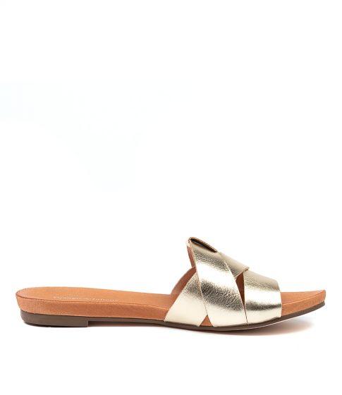 Pale Gold Just Flat Sandals
