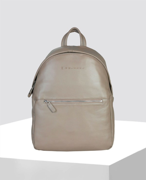 Brown Patent Smooth Looks Backpack