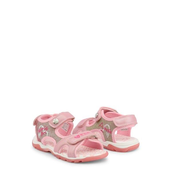 Pink Velcro Glitter Kids Sandals