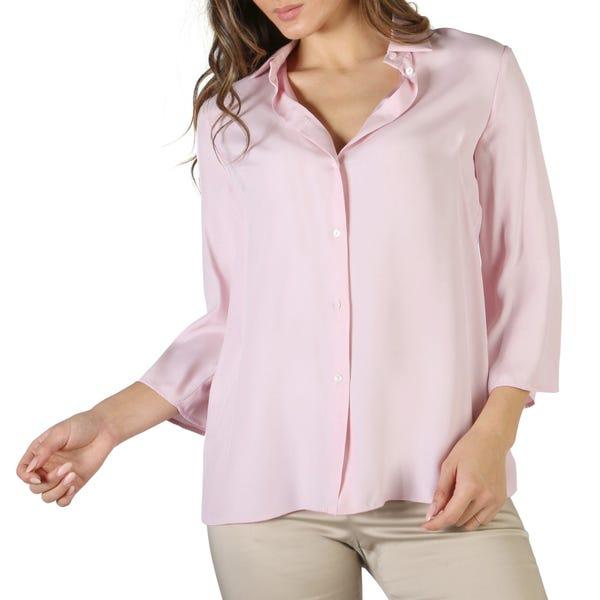 Collar Button Long Sleeve Plain Shirt
