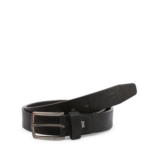 Black Croc Buckle Strap Belt