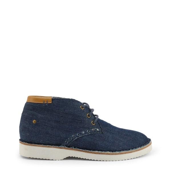 Denim Round Toe Lace Up Shoes