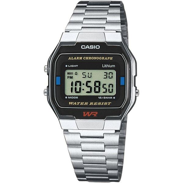 Black Dial Digital Alarm Chronograph Steel Strap Watch
