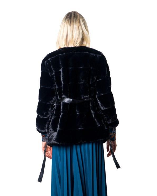 Round 3/4 Sleeve Fur Jacket