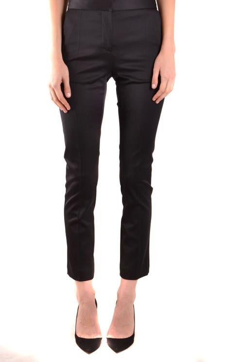 Black Zip Hook Button Trouser