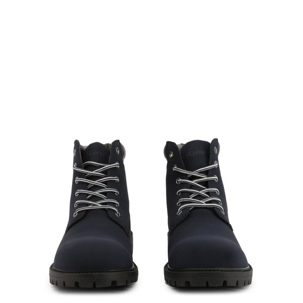 Navy Nubuck Clstar Lace Up Ankle Boots