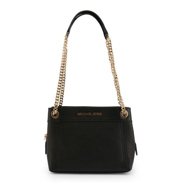 Golden Chain Black Leather Body Shoulder Bag