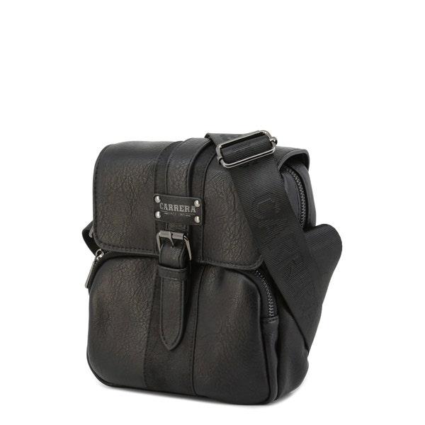 Black Devon Magnetic Buckle Crossbody Bag
