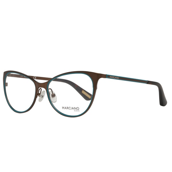 Brown Steel Stripes Pattern Eyeglass