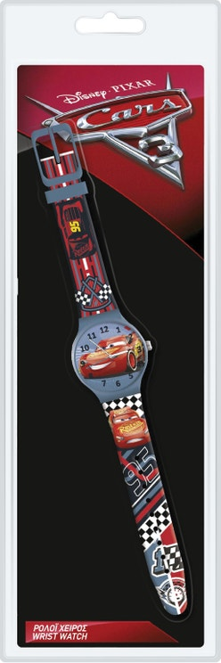 Red Picar Cars Plastic Strap Analog Watch