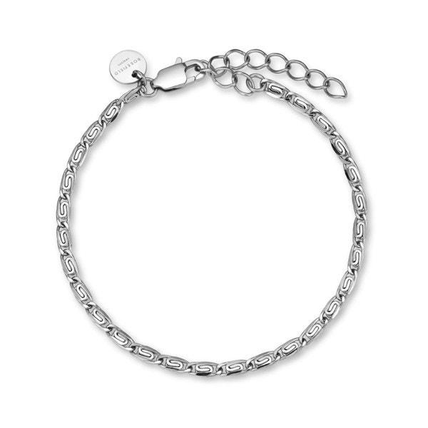 Silver Stainless Steel Round Bracelet