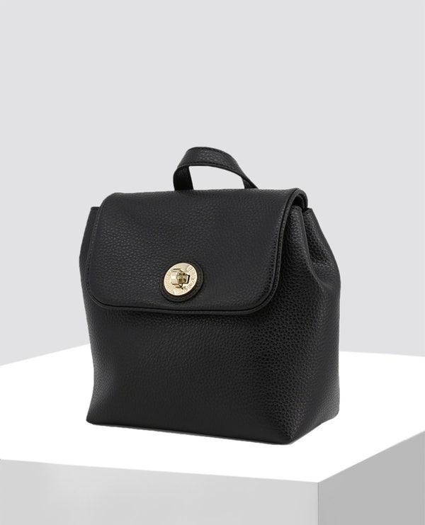 Textured Leather Rucksack Bag