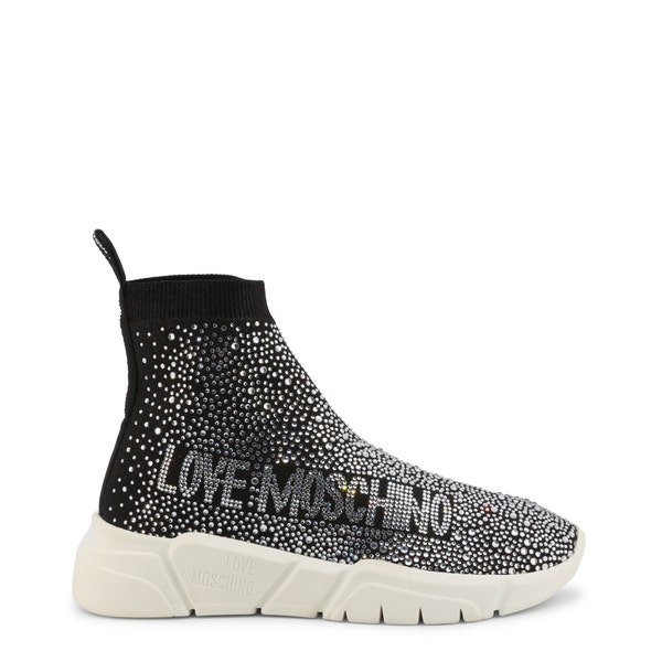 Round Toe Embellish High Top Sneakers