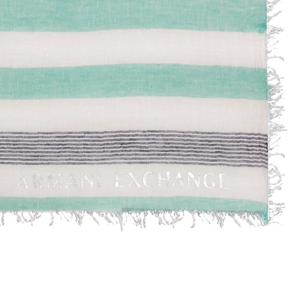 Multi Stripes Printed Slick Scarf