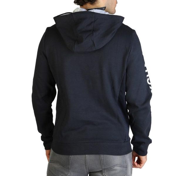 Blue Hoodie Long Sleeve Pocket Sweatshirt