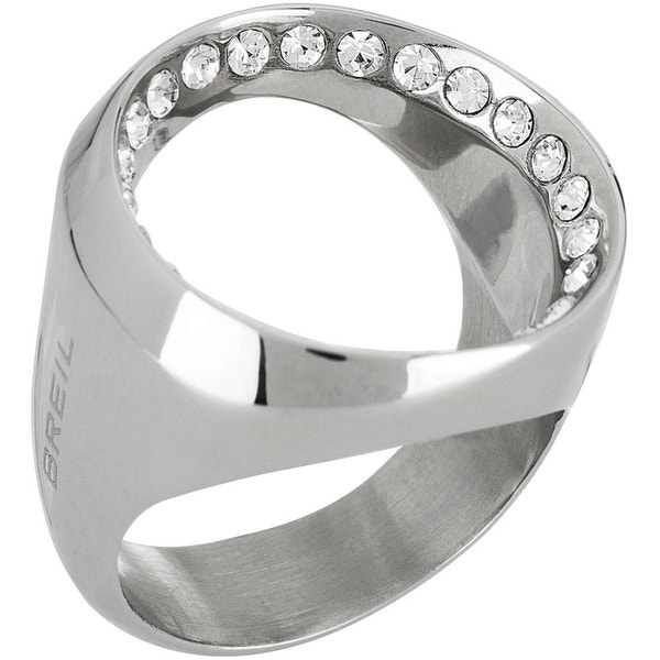 Voil Silver Stone Hole Ring
