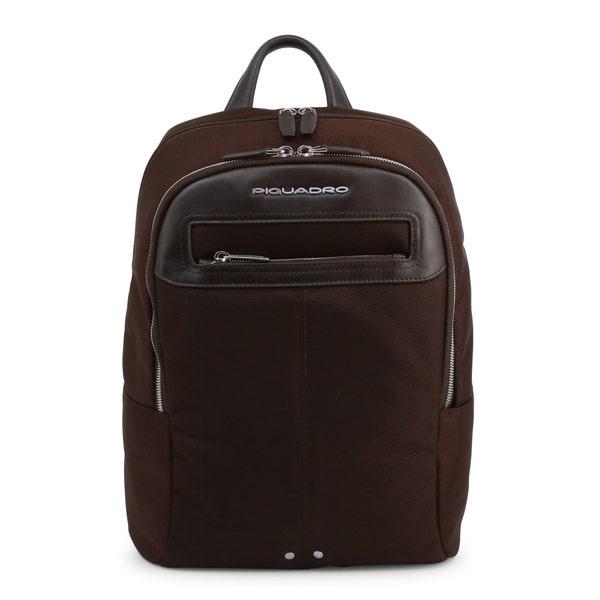 Brown Handle Multi Zipper Pocket Backpack