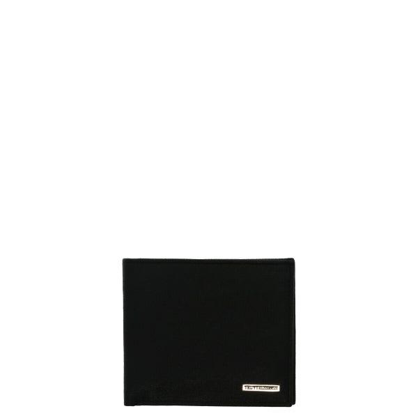 Leather Plain Bi Fold Wallet