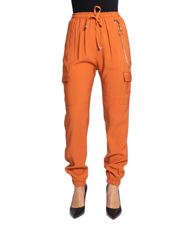 Elasticated Waist Pocket Side Trouser
