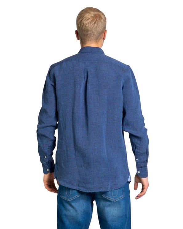 Long Sleeve Collar Button Shirt